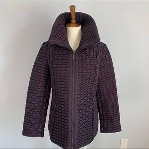 Anne Klein Plum Quilted Jacket